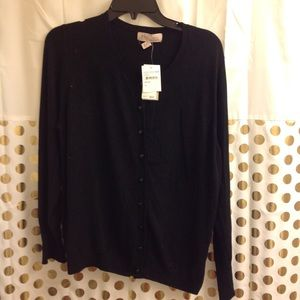 NEW Philosophy Black Cardigan NWT XL professional